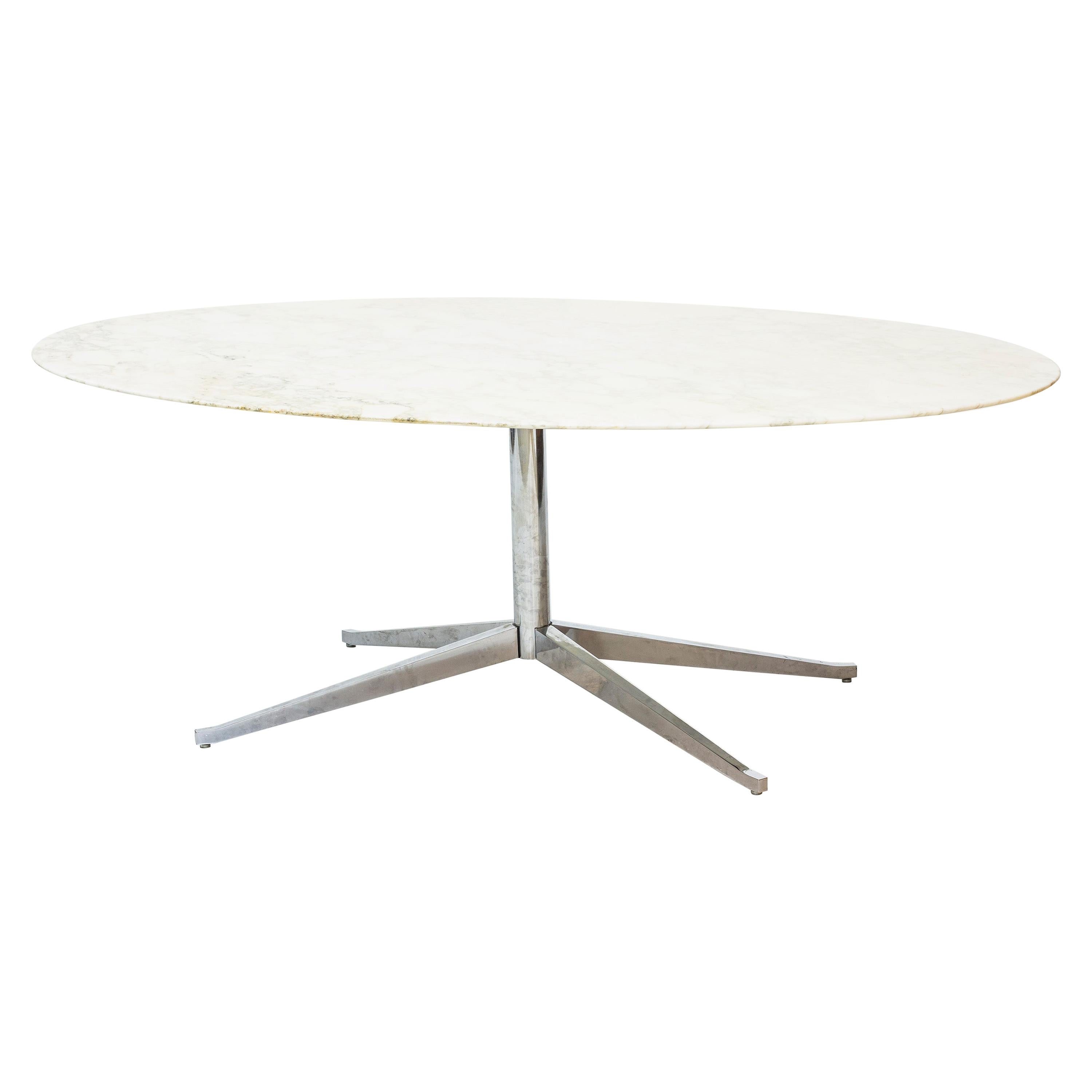 """Oval Dining Table Model """"2480"""" Designed by Florence Knoll, Knoll International"""