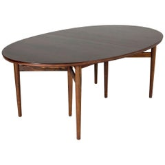 Oval Dining Table with Extension Leaves by Arne Vodder