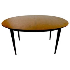 Oval Dining Table with Marquetry Top by Bert England for Johnson Furniture