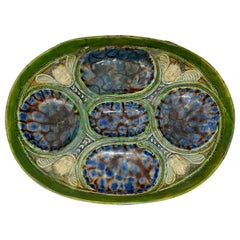 Oval Dish with Winged Putti, After Bernard Palissy, French, 18th/19th Century