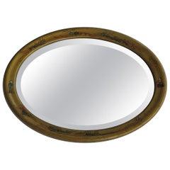 Oval Edwardian Gilt Chinoiserie Wall Mirror Bevelled Glass, English circa 1900