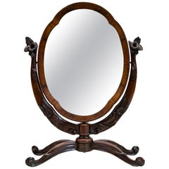 Oval English Rosewood Dressing Mirror