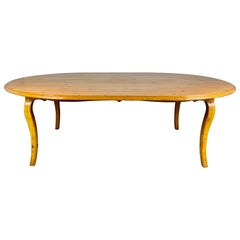Oval French country Style Dining Table with Leaf by Guy Chaddock