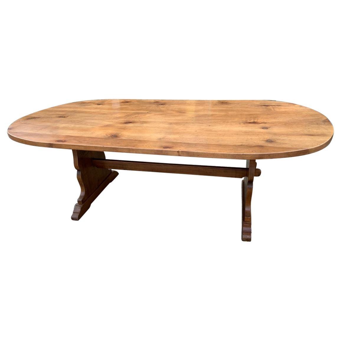 Oval Fruitwood Farmhouse Table