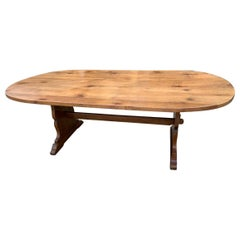 Oval Fruitwood Farmhouse Table