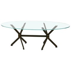 Oval Glass Table Le Zoie Designed by Michele Dal Bon