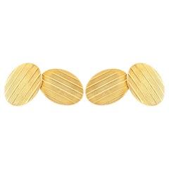Oval Gold Cufflinks