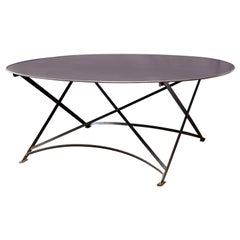 Oval Hand Forged Steel Table