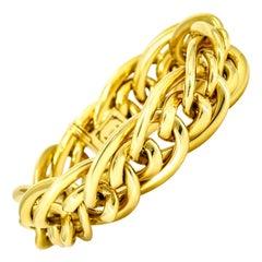 Oval Link Bracelet in 18 Karat Yellow Gold