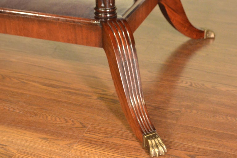 Custom Oval Traditional Mahogany Dining Table by Leighton Hall For Sale 5