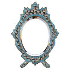 Oval Micro-Mosaic Mirror