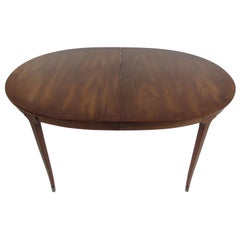Oval Midcentury Walnut Dining Table by White Furniture Company