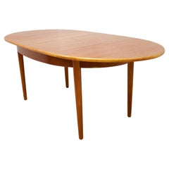 Oval Midcentury Teak Dining Table, 1960s