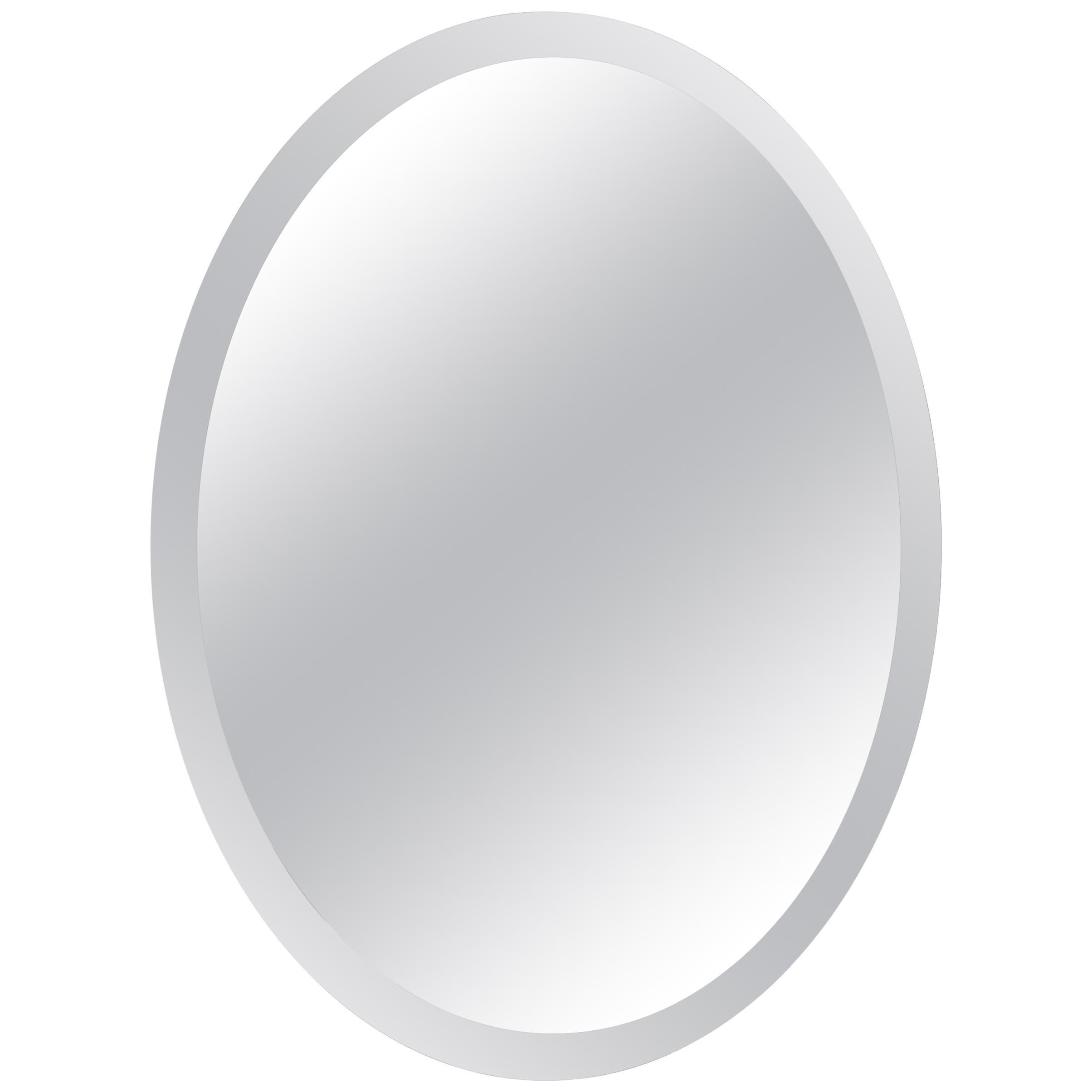 Oval Mirror by Luigi Fontana before Fontana Arte Palermo, Signed and Dated 1927