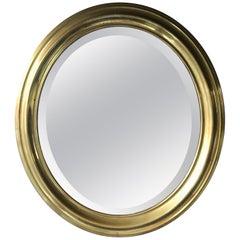 Oval Mirror in Brass