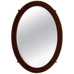 Oval Mirror in Velvet