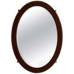 Oval Mirror in Velvet