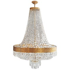 Oval Montgolfiè Empire Sac a Pearl Chandelier Crystal Lustre Ceiling Antique