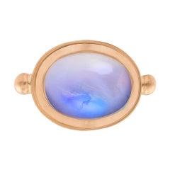 OUROBOROS Oval Moonstone 18 Karat Gold Ring