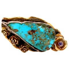 Blue Pear Shape Multi-Color Gemstone Cocktail Ring 925 Sterling Silver