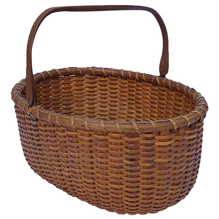 Oval Nantucket Lightship Basket For Sale