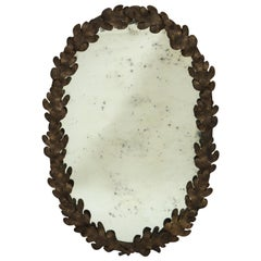 Victorian Oval Oak Leaf Mirror