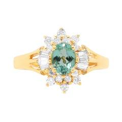 Oval Paraiba Tourmaline Engagement Ring