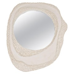 Oval Plaster Mirror