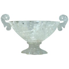 Oval Rock Crystal Centerpiece with Handles