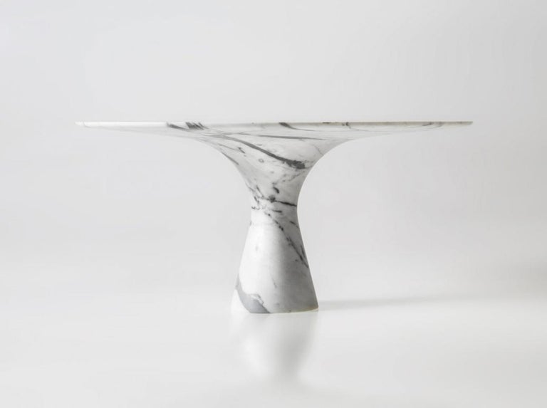 Oval Saint Laurent Refined Contemporary Marble Dining Table 290 For Sale 2