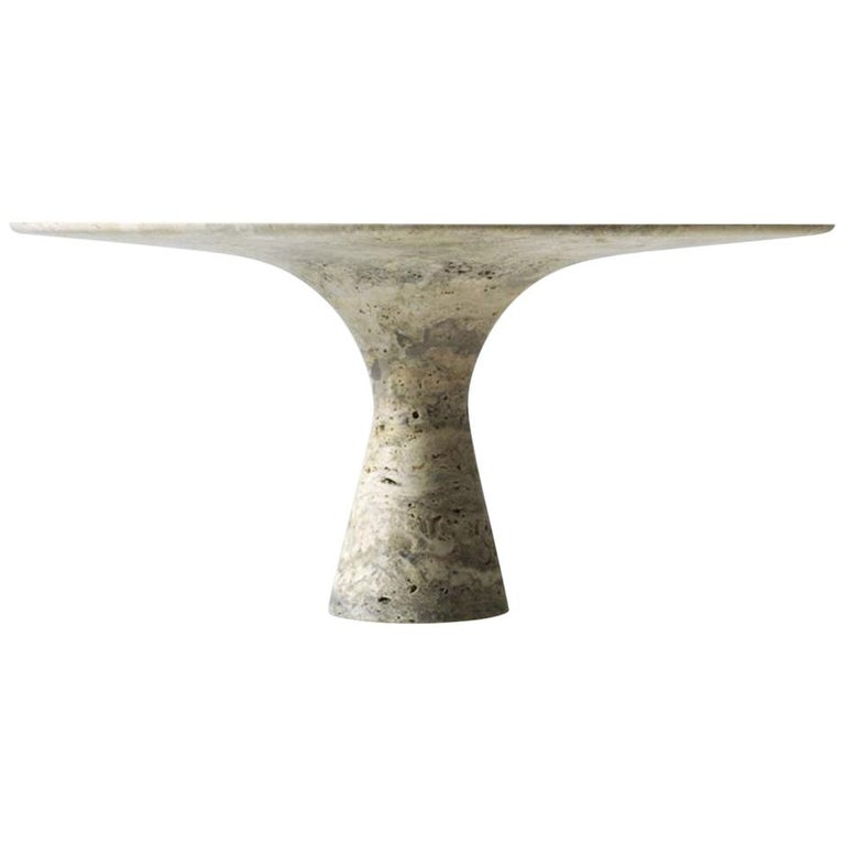 Oval Saint Laurent Refined Contemporary Marble Dining Table 290 For Sale 3
