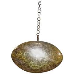 Oval Shaped Brass Pendant Chandelier