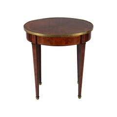 Oval Shaped French Rosewood Side Table, Late 19th Century, circa 1880, 1 Drawer