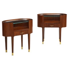 Oval Side Tables by Paolo Buffa