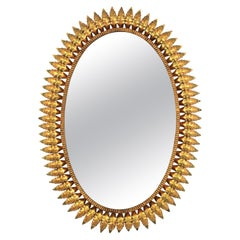 Oval Sunburst Mirror