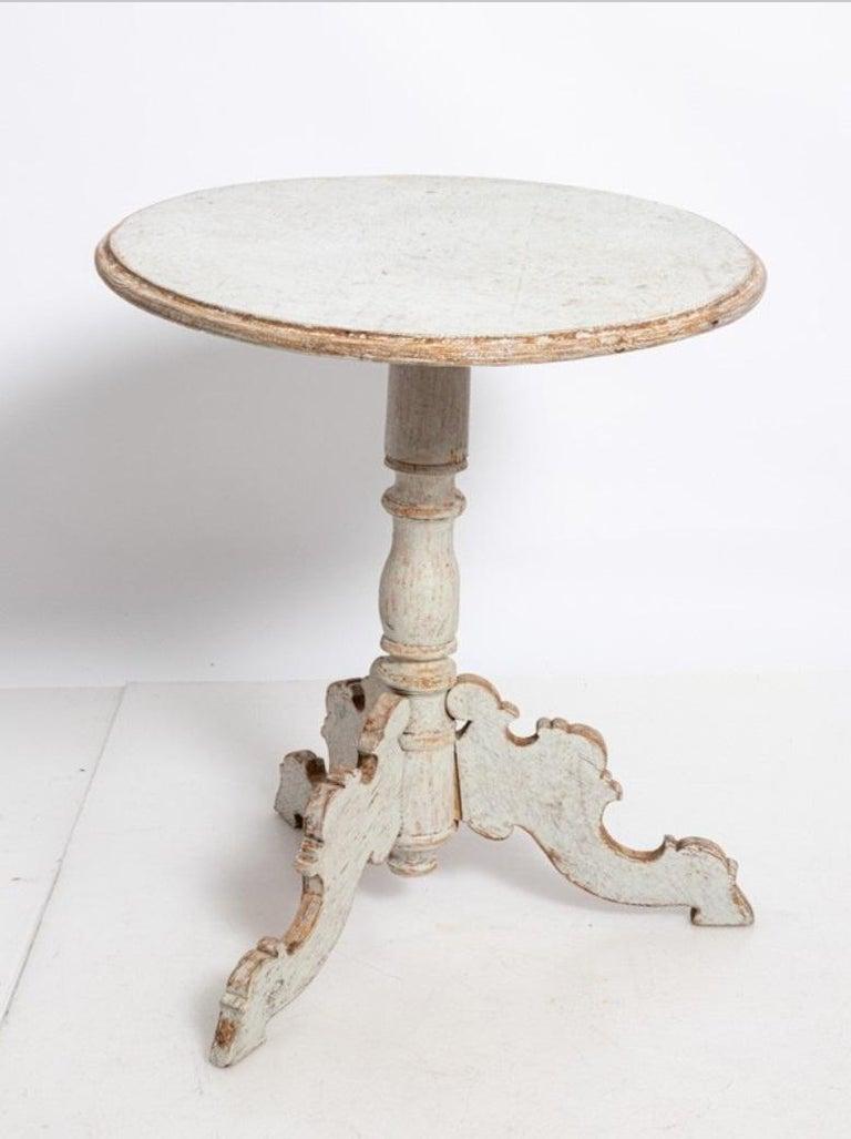 Gustavian Oval Swedish Side Table For Sale