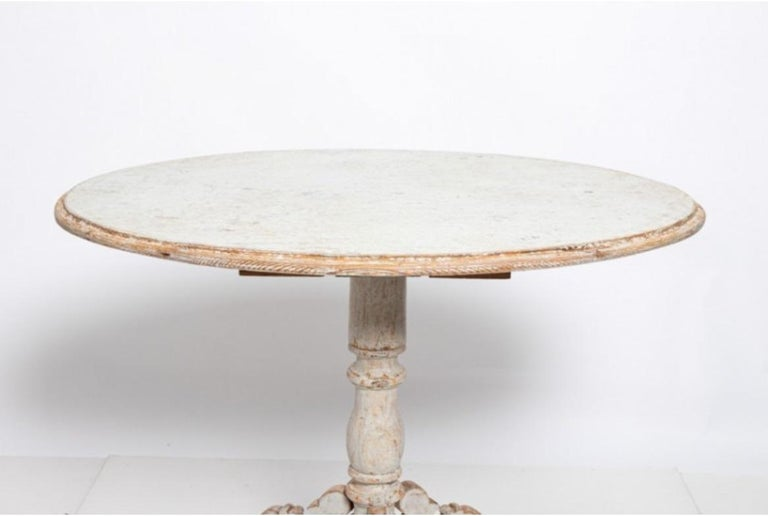 19th Century Oval Swedish Side Table For Sale
