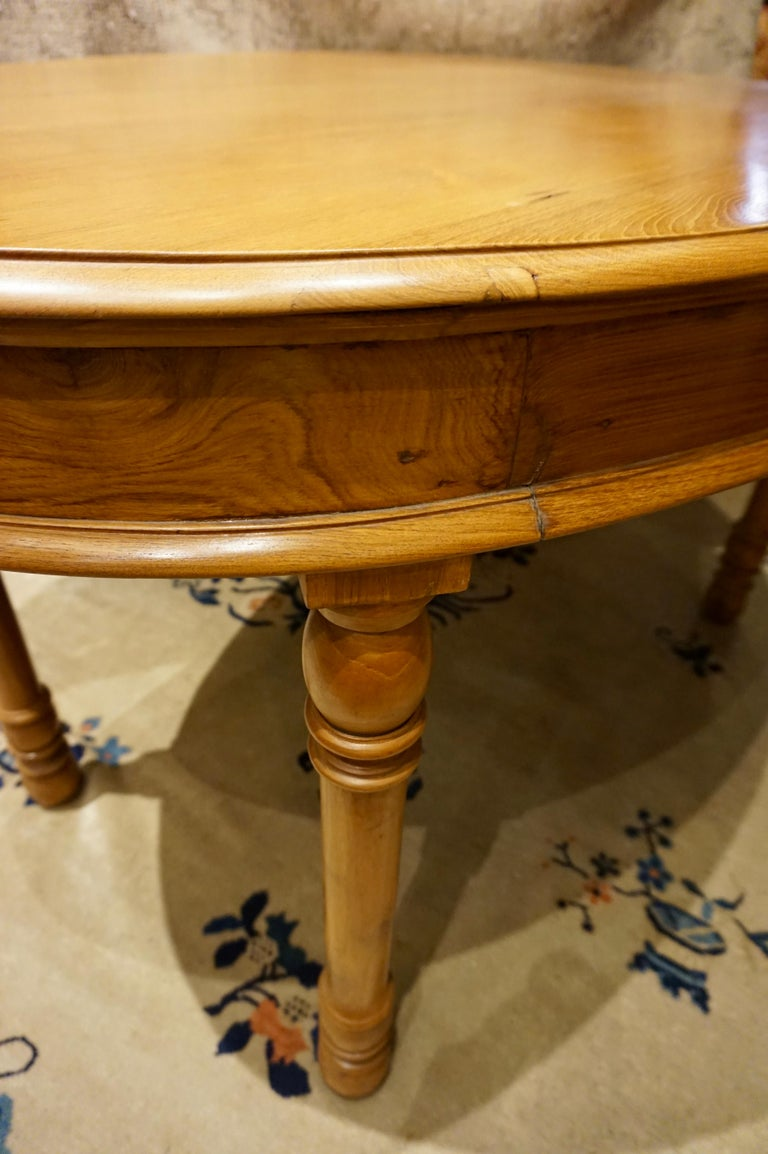 Late 19th Century Oval Teak Dining Table/ Desk Colonial For Sale
