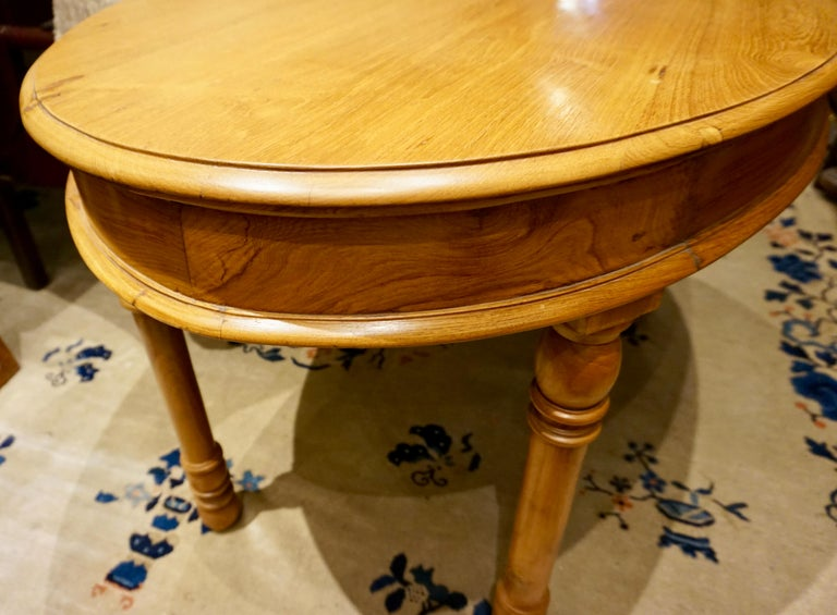 Oval Teak Dining Table/ Desk Colonial For Sale 1