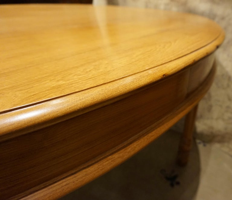 Oval Teak Dining Table/ Desk Colonial For Sale 3