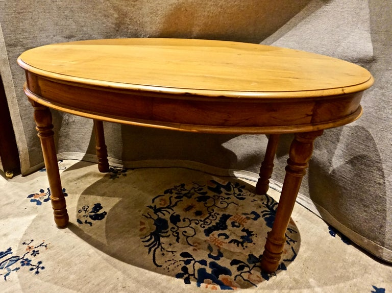 Oval Teak Dining Table/ Desk Colonial For Sale 4