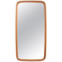 Oval Teak Wall Mirror, AB Nybrofabriken, Fröseke