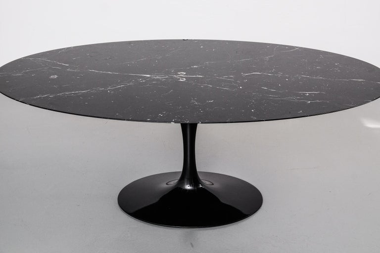 """Oval """"Tulip"""" Dining Table with Black Marble Top by Eero ..."""