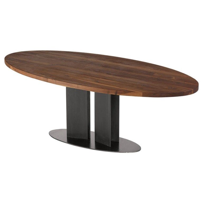 Oval Walnut Dining Table For Sale