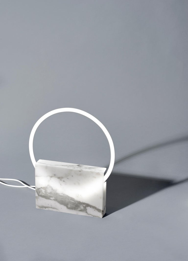 White marble table lamp, Sabine Marcelis