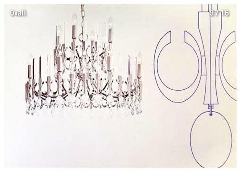 Ovali Chandelier by Angelo Gaetano Sciolari For Sale 8