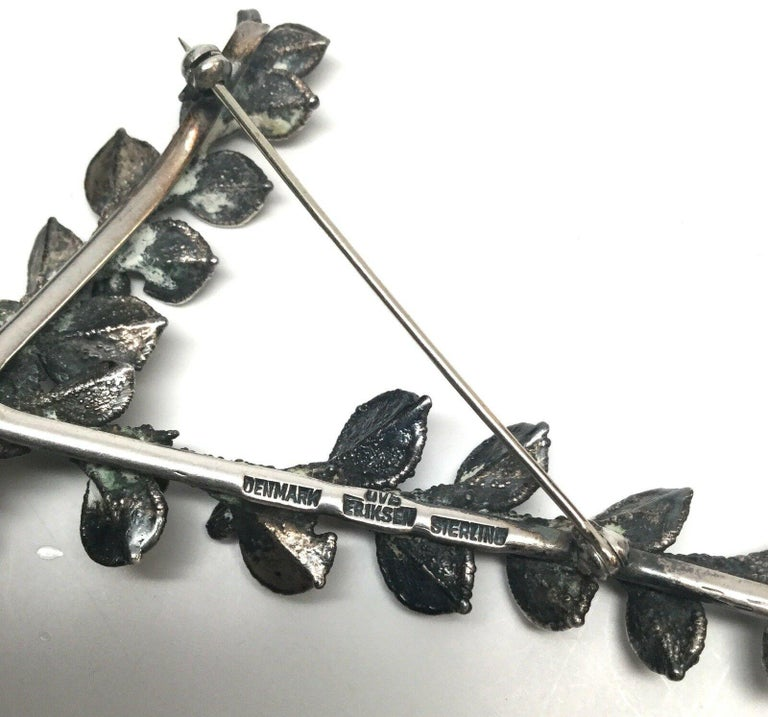 Ove Eriksen Denmark Sterling Silver Branch Pin / Brooch For Sale 3