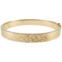 Ove Fogh Pedersen Danish 14 Karat Yellow Gold Bangle