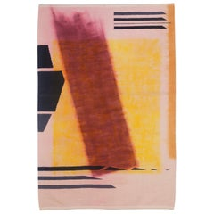 Contemporary Over Dyed Handwoven Wool Rug Kilim or Tapestry