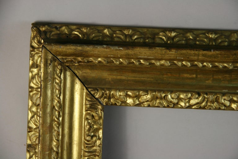 over Sized 19th Century Italian Water Giltwood Frame For Sale 2